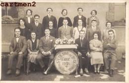 CARTE PHOTO : SAINT-ETIENNE-DE-SAINT-GEOIRS CONSCRITS CLASSE 1926 ISERE - Unclassified