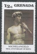 Grenada 1975. Scott #676 (MNH) David' Work By Michelangelo * - Grenade (1974-...)