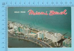 Hello From Miami Beach , Florida USA -  2 Scans - Souvenir De...