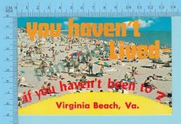 You Haven't Lived If You Haven't Been To Virginia Beach, Virginia USA -  2 Scans - Souvenir De...