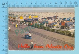 Hello From Atlantic City N. J.  USA  Used In 1966 -  2 Scans - Souvenir De...