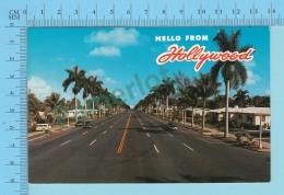 Hello From Hollywood Florida USA  -  2 Scans - Souvenir De...