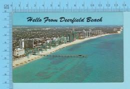 Hello FromDeerfield Beach Florida USA  -  2 Scans - Souvenir De...