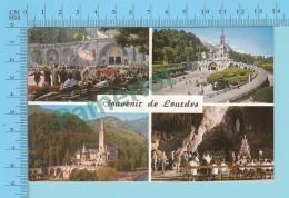 Souvenir De Lourdes Multi-vues  -  2 Scans - Souvenir De...