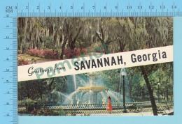 Greetings From Savannah Georgia USA-  2 Scans - Souvenir De...
