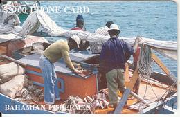 BAHAMAS ISL.(chip) - Bahamian Fishermen(gold Number), Chip GEM1, Tirage 20000, Used