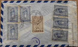 Greece, Athens 13 II 1950 - 1000 Dr Rate (1947-aug 1950) + 300 Dr Airmail Rate On Currency Control Letter To Belgium - Cartas
