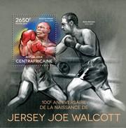 CENTRAFRICAINE 2014 SHEET JOE WALCOTT BOXING BOXE BOXEN SPORTS Ca14304b - República Centroafricana