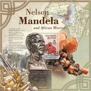SOLOMON ISLANDS 2013 SHEET NELSON MANDELA NOBEL PRIZE MINERALS MINERAUX MINERALIEN MINERALES MINERALI Slm13305b - Solomon Islands (1978-...)