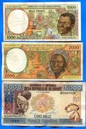 Guinea   équatorial  F  2  Billets  +  1  Hs - Equatoriaal-Guinea