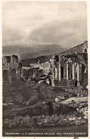 TAORMINA IL S.DOMENICO PALACE DAL TEATRO GRECO CON LO SFONDO SUL VULCANO DELL'ETNA VERA FOTO - Messina