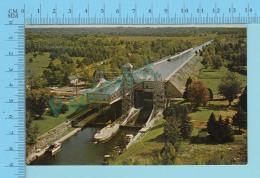 KirkfieldOntario Canada - Areal View Of The Lift-Locks -  2 Scans - Ontario