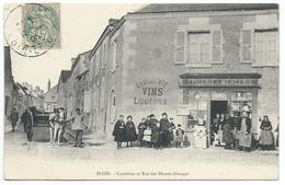 BLOIS ( 41 - Loir Et Cher ) - Carrefour Et Rue Des Hautes Granges ( Très Animée, Personnes , Epicerie F. SERANGELI ) - Blois