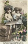 21 Côte D'Or Magnien Carte Fantaisie Poisson D'Avril à Meuriot  TBE 1907 - Arnay Le Duc