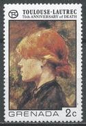 Grenada 1976. Scott #741 (MNH) Woman's Head By Toulouse-Lautrec * - Grenade (1974-...)