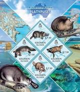 SOLOMON ISLANDS 2013 SHEET PLATYPUSES ORNITHORYNQUES ORNITORRINCOS ORNITORINCHI WILDLIFE Slm13402a - Solomon Islands (1978-...)