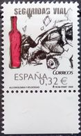 Spain, 2009, ED 4497, Mi. 4432, Sc. 3659, SG 4456, Road Safety Campaign, Perils Of Drink Driving, Wine Bottle, MNH - Accidents & Road Safety