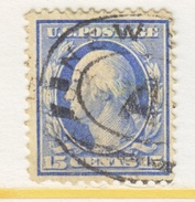U.S. 340    Perf 12  (o)   Double Line Wmk.  1908-9 Issue - Used Stamps