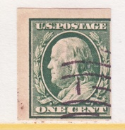 U.S. 343    IMPERF.  (o)   Double Line Wmk.  1908-9 Issue - United States
