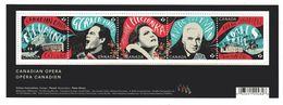 """CANADA 2017 CANADIAN OPERA Souvenir Sheet  Of 5 """"P"""" Stamps, See Description, 2970 - Blocs-feuillets"""