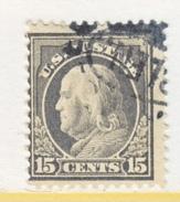 U.S. 418    Perf 12.  (o)   Single Line Wmk.   1912-14 Issue - United States