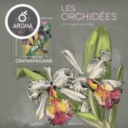 CENTRAFRICAINE 2014 SHEET ORCHIDS FLOWERS ORCHIDEES FLEURS ORCHIDEEN BLUMEN Ca14317b - República Centroafricana