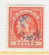 U.S. 420    Perf 12.  (o)   Single Line Wmk.   1912-14 Issue - United States