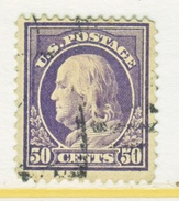 U.S. 421    Perf 12.  (o)   Single Line Wmk.   1912-14 Issue - Used Stamps