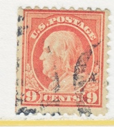 U.S. 432     Perf 10.  (o)   Single  Line Wmk.  Flat Press   1914 Issue - Used Stamps
