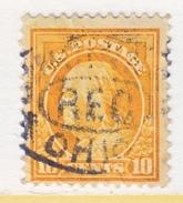 U.S. 433     Perf 10.  (o)   Single  Line Wmk.  Flat Press   1914 Issue - United States