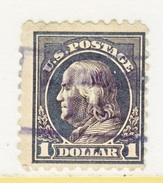 U.S. 460     Perf 10.   (o)   Double  Line Wmk.  Flat Press   1915 Issue - United States