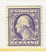 U.S. 464   Type I    Perf 10.   (o)   No  Wmk.  Flat Press   1916-17 Issue - United States
