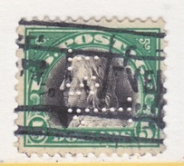 U.S. 524   Perf 11.   (o)  PERFIN   No  Wmk.  Flat Press   1918 Issue - United States