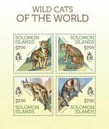 SOLOMON ISLANDS 2013 SHEET WILD CATS FELINS FELINES FELINOS RAUBKATZEN FELINI WILDLIFE Slm13705a - Solomoneilanden (1978-...)