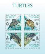 SOLOMON ISLANDS 2013 SHEET TURTLES TORTUES TORTUGAS TARTARUGAS SCHILDKROTEN TARTARUGHE REPTILES REPTILIEN Slm13707a - Salomon (Iles 1978-...)