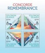 SOLOMON ISLANDS 2013 SHEET CONCORDE AVIATION PLANES AVIONES Slm13712a - Isole Salomone (1978-...)