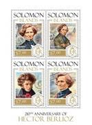 SOLOMON ISLANDS 2013 SHEET HECTOR BERLIOZ COMPOSERS COMPOSITEURS KOMPONISTEN COMPOSITORES Slm13805a - Solomoneilanden (1978-...)
