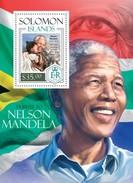 SOLOMON ISLANDS 2014 SHEET NELSON MANDELA NOBEL PRIZE Slm14113b - Solomon Islands (1978-...)