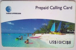 Cayman Islands Phonecard US$10/CI$8 Beach - Cayman Islands