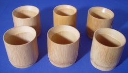 6 Bamboo Cups - Glasses