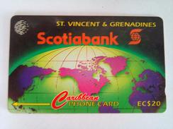 St Vincent Phonecard EC$20 Scotiabank 12CSVA