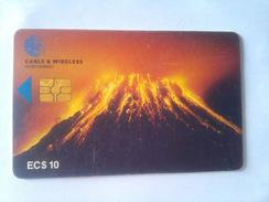 Montserrat Phonecard EC$10 Volcano Chip Card
