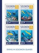 SOLOMON ISLANDS 2014 SHEET DIVING MARINE LIFE Slm14307a - Salomon (Iles 1978-...)