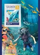 SOLOMON ISLANDS 2014 SHEET DIVING MARINE LIFE Slm14307b - Salomon (Iles 1978-...)