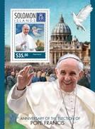SOLOMON ISLANDS 2014 SHEET POPE FRANCIS PAPE FRANÇOIS PAPA FRANCISCO PAPES POPES PAPAS Slm14313b - Salomon (Iles 1978-...)