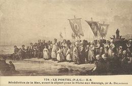 Le Portel - Bénédiction De La Mer, Avant Le Départ Pour La Pêche Aux Harengs, Par A. Delacroix - Le Portel