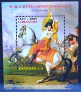 #b245 Block 200J Schlacht Aspern Essling, Erzherzog Karl Napoleon, AT 2009 ** - 1945-.... 2ème République