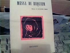 LIBRETTO MESSA REQUIEM GUISEPPE VERDI 1976  GB13538 - Musica