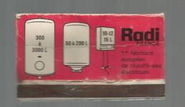 G-I-E , Tabac , Boites , Pochette D'ALLUMETTES , 2 Scans ,  Publicité  , Chauffe Eau RADI , 9 X 5 - Boites D'allumettes - Etiquettes