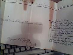 SEZIONE CANALE GORA MOLINAIA SERVE MULINI CASA COLONNO DEL PIANASSO 1860 ALTA BRIANZA ?  GB13541 - Carte Topografiche